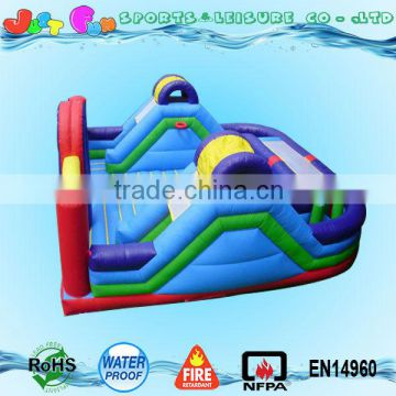 inflatable gym playground for kids, inflatable sport games kids playground combo with basketball hoops