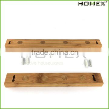 Bamboo magnetic tool knife holder for kitchen utensils Homex BSCI/Factory