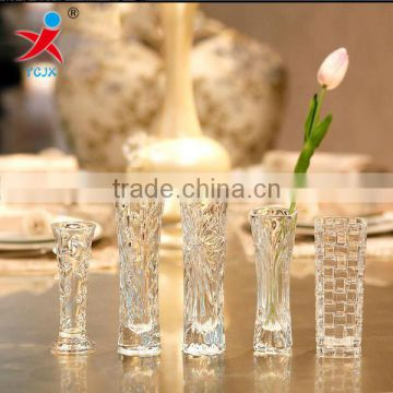 Wholesale transparent glass vase/contracted fashion table of a hotel room flower-stand surface furnishing articles/floret bottle