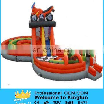 Moto inflatable sliding obstacle playground