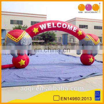 AOQI popular outdoor elephant advertising inflatable party arch for sale for decoration