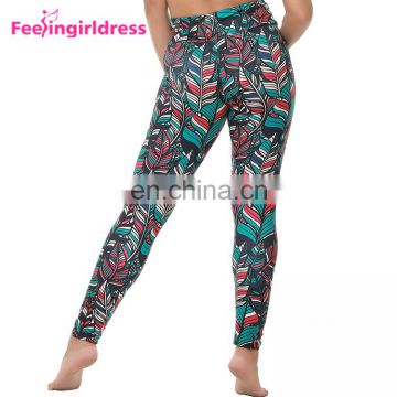 Wholesale Custom Printed Women Soft 92 Polyester 8 Spandex Tights Woman Leggings