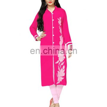 Casual Party Wear Stitched Kurtis Design 2017