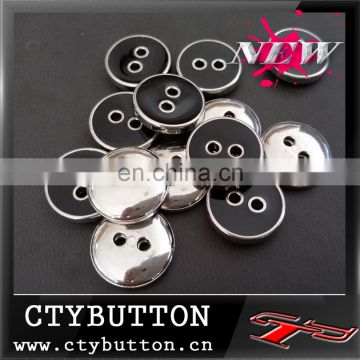 2 hole-Black Epoxy plastic button