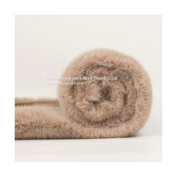 HIGH QUALITY 100% POLYESTER FAKE FUR FABRIC ,FAUX RABBIT FUR FOR COAT,BLANKETS,JACKET FABRIC