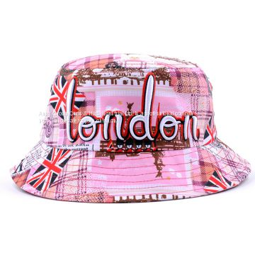 813b4925bb3 100% Cotton Promotional Flat Crown Embroidered Fashion Bucket Hat of custom bucket  hat from China Suppliers - 159503753