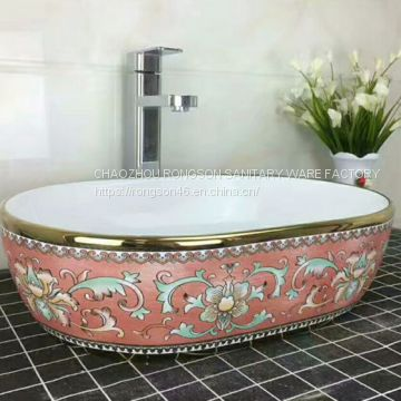 New design ceramic hair wash basin portable shampoo wash basin