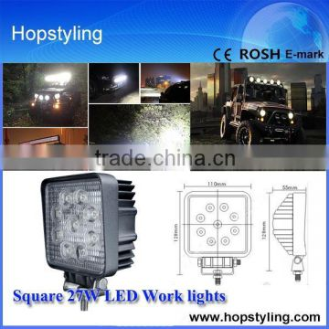 27w square LED Work Spot Light Off Road Square Lamp 27w,27w led work light for ATV Utility Truck SUV