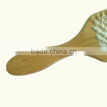 Natural Bamboo Hair Brush , Heads Hair Brush Wood Factory                                                                         Quality Choice