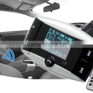 Bluetooth Car Kit FM Transmitter HandsFree Phone MP3 Player SD/MMC/USB + Remote Kit Car