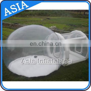 inflatable clear tent used in amusement park or family yard