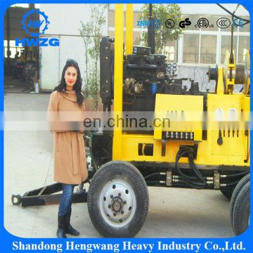 Full hydraulic trailer mounted portable XYX-3 model water well drilling rig from China