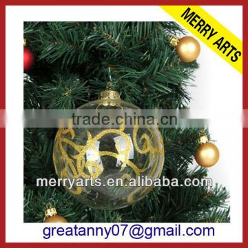 ... China factory sale cheap clear glass christmas ornaments balls transparent christmas decoration glass ball wholesale