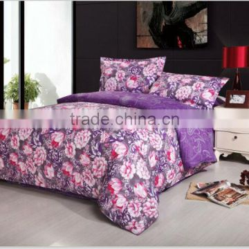 New luxruy elegant flower Printed Duvet Cover With Pillow Cases Quilt Cover Cotton Bedding Set