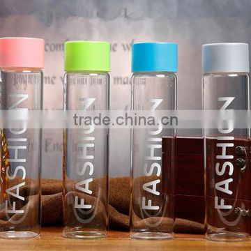 6632fdb5e1 Customized 400ML borosilicate water bottle, custom voss water glass bottle  water glass bottle of gift cup from China Suppliers - 142280750