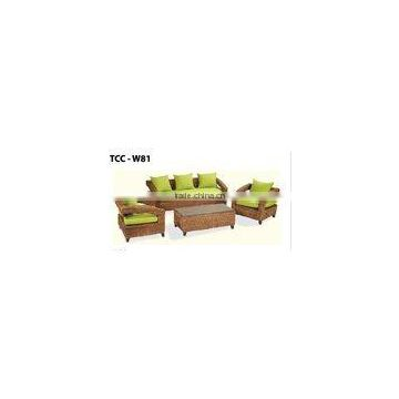 LIVINGROOM SOFA SET/ WATER-HYACINTH FURNITURE TCC-W81