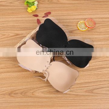 Invisible Strapless Push Up Bra Top Stick Gel Silicone Sexy Deep V Bras for Women