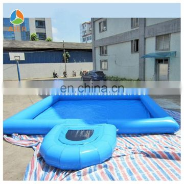 Hot selling inflatable water pool with diving board