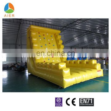 2017 high quality yellow inflatable climbing wall for sale