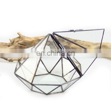 terrarium geometric glass terrarium wholesale diamond with door