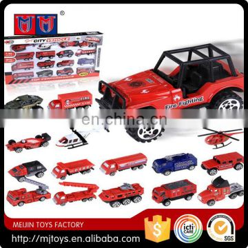 Meijin Toys 1:64 Alloy Car 16pcs city vehicle series die cast car 8 sets for sale