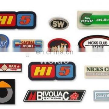 China Manufacturer Soft silicone rubber PVC badge