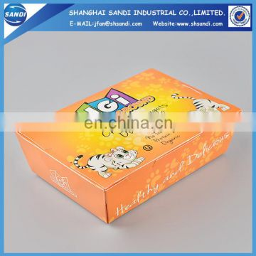 Full color printed custom disposable paper lunch box