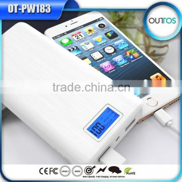 High capacity 16000mah power bank with LCD digital display screen