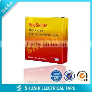 PE separator Self fusing type High voltage rubber tape below 1kV SHUSHI10#