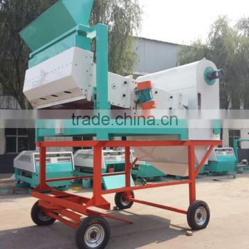 Multifunction movable wheat cleaning machine