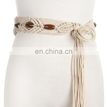 wholesale woman ladies fashion handmade boho ethnic braided belt