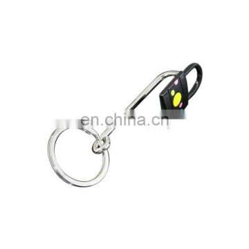 Custom metal lock shape straight hook bag hanger with chain for sale