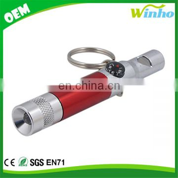 Winho custom logo flashlight with whistle