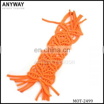 handmade macrame motif for bikini decoration
