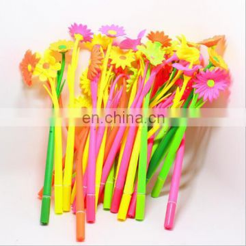 Colorful Soft silicone Flower Gel Pen Silicone Gel Pen Colorful Flower Gel pen