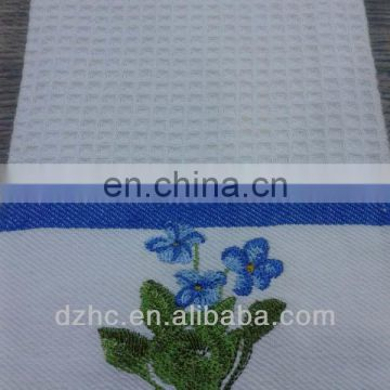 100%cotton emboidery waffle best cleaning cloth wholesale
