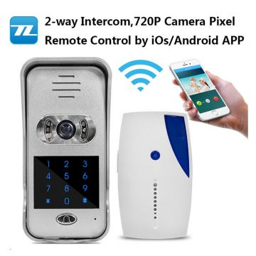 Remote control by moblie APP wireless video camera video doorbell