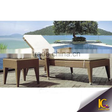 Milan Leisure Outdoor/Resort rattan pool furniture Resin Sun Lounger/chaise/beach/Recliner Chair                                                                         Quality Choice