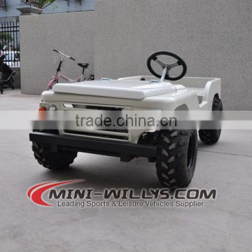 CE Approved White 110CC Mini Jeep