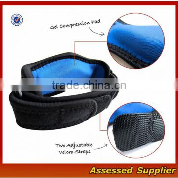 WH-140 hot sale cheap adjustable custom women and men tennis elbow brace support with compression pad for sports safety