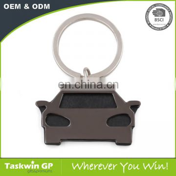 Promotion Gift Item Custom Metal Cheap Bottle Car Shaped Keychain of