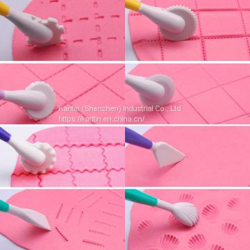 Hot sales Portable Food grade different shaped fondant cake decorating tools