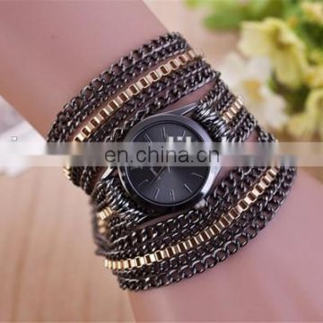 Newest style chain bracelet watch gold watch