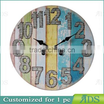 wooden clock / colorful wall clock