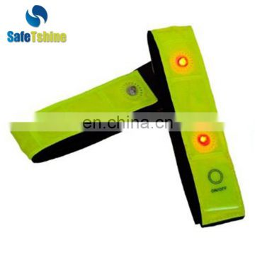 High value LED Reclaimed Material reflective sports arm band