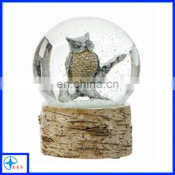 owl water globe-owl snow globe decoration