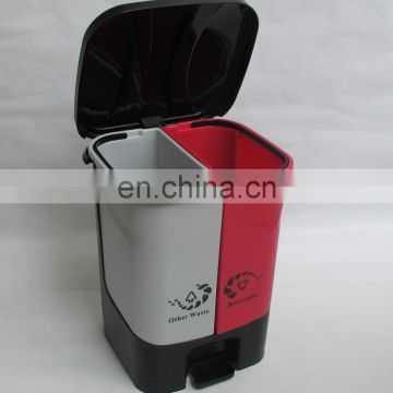recycling divided plastic kitchen rubbish bins