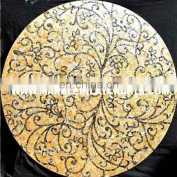 Golden Mother Of Pearl Table Top