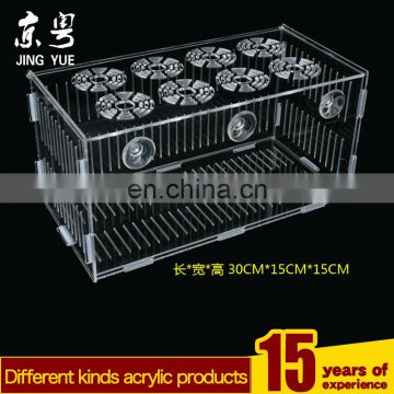 Sqaure clear pmma plexiglass reptile cage bin acrylic reptile display cages