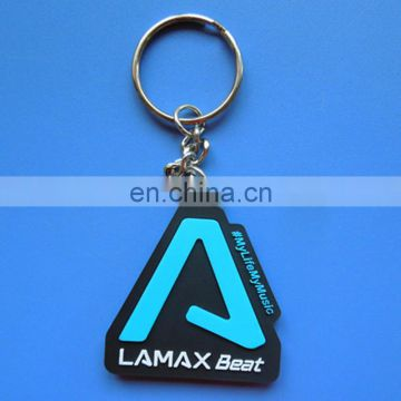3D popularity sounding music soft rubber pvc custom logo irregular shape promotion gift keychain